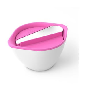 Bílo-růžová dóza na saláty a polévky Monbento MB LIB Pink/White