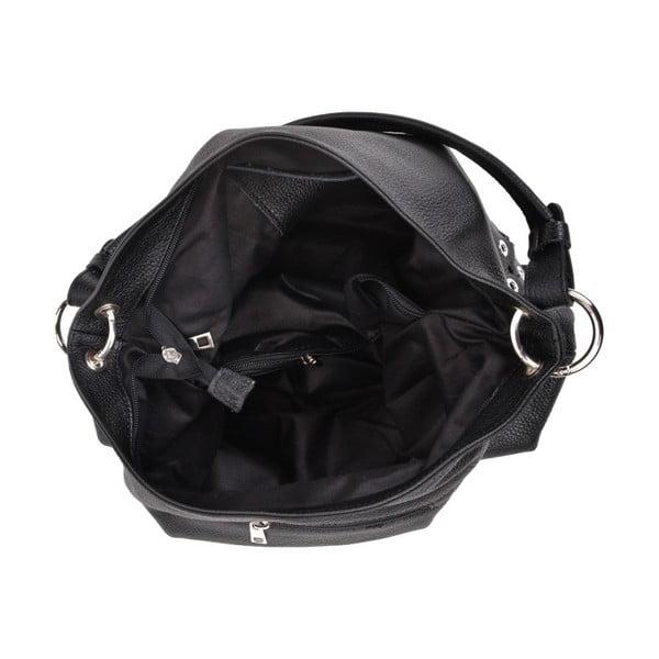 Černá kožená kabelka Anna Luchini Boss