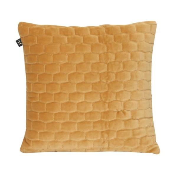 Karamelově hnědý polštář se sametovým povrchem PT LIVING, 35x35cm