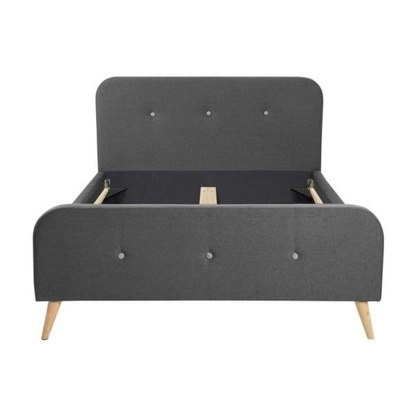 Agnes Bett sötétszürke ágy, 180x200 cm - Actona