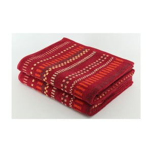 Set 2 osušek Red on Red, 70x140 cm
