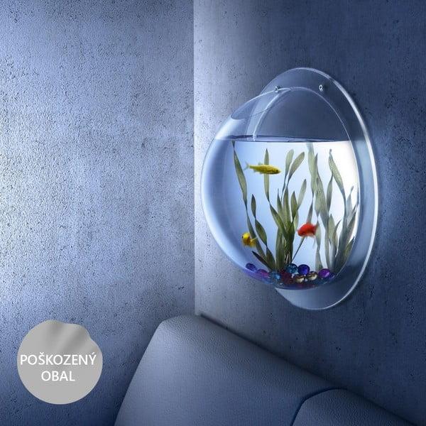 Nástěnné akvárium 30 cm, mírně poškozený obal