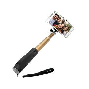 Zlatá teleskopická selfie tyč Fixed v luxusním hliníkovém provedení