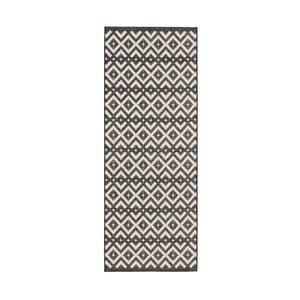 Černo-krémový běhoun Zala Living Harmony, 76x200cm