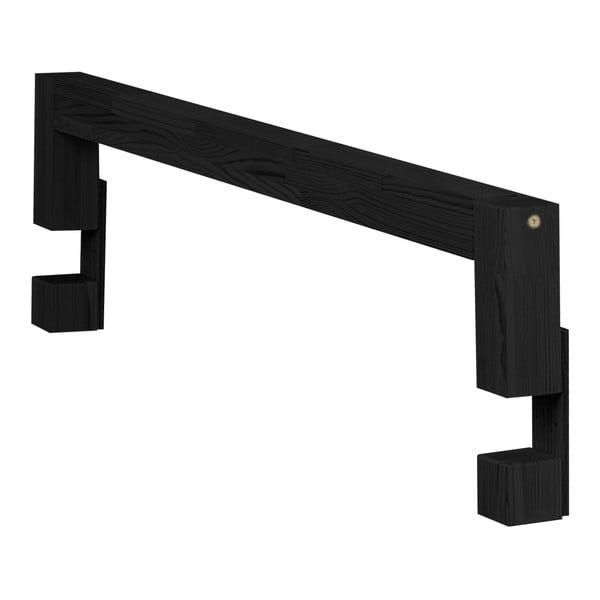 Safety fekete fenyő ágyra szerelhető oldalfal, hosszúsága 90 cm - Benlemi