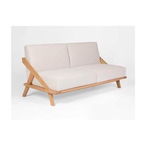 Sofa s konstrukcí z dubového dřeva Ellenberger design Nordic Space