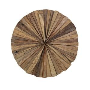 Nástěnná dekorace z teakového dřeva HSM Collection Roude,80cm
