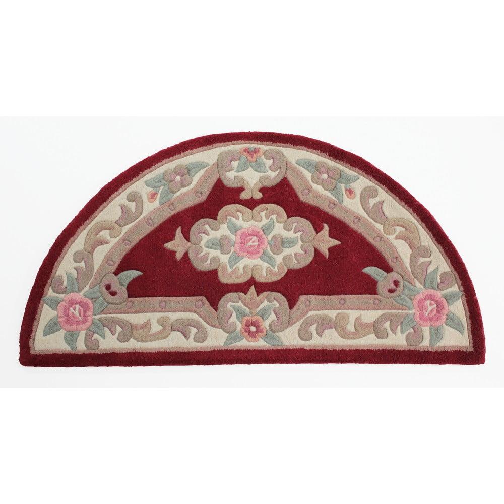 Červený vlněný koberec Flair Rugs Aubusson, 67x127cm