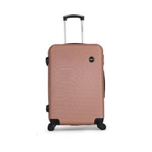 Světle růžový cestovní kufr na kolečkách BlueStar Porto, 64l