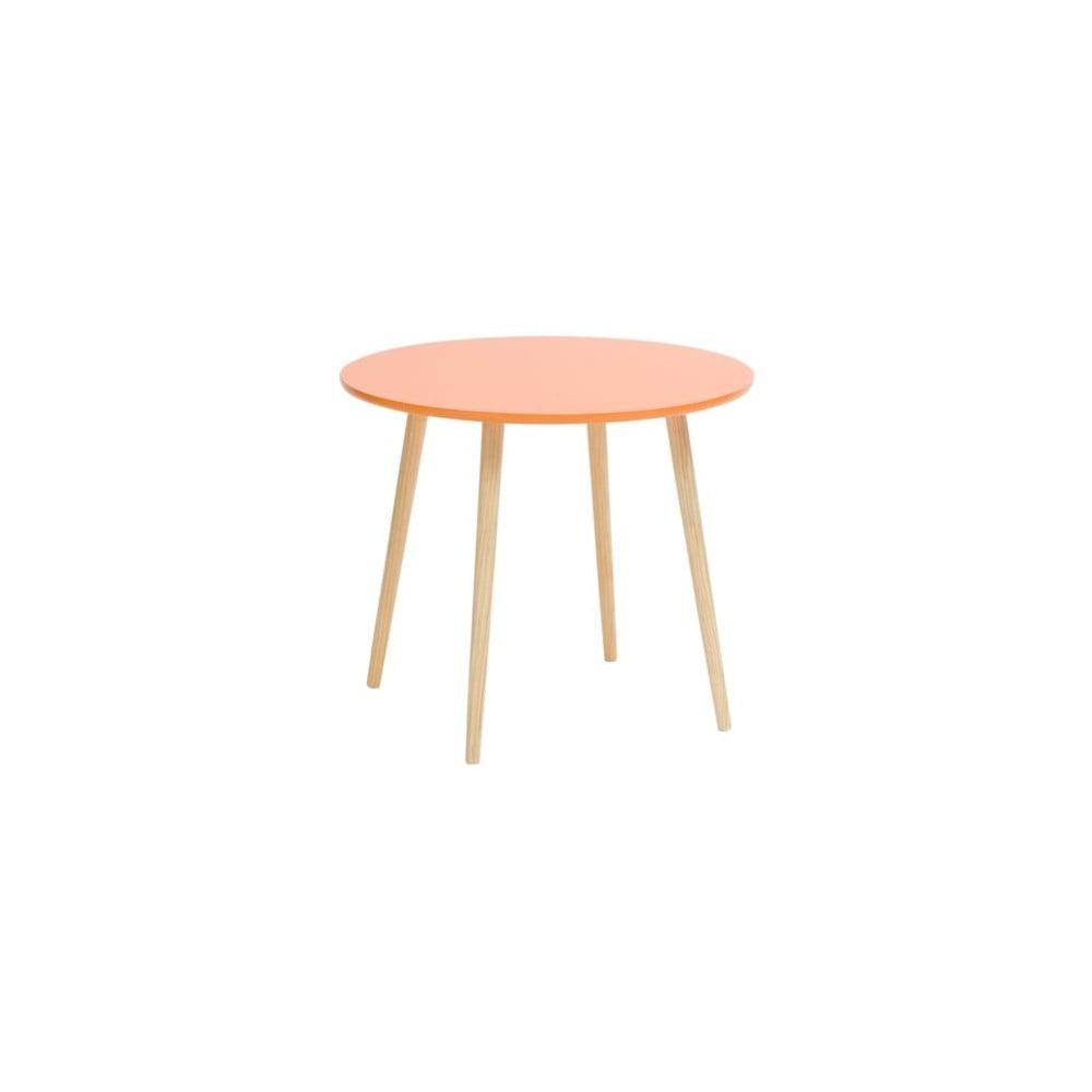 Oranžový příruční stolek Mauro Ferretti Da Caffe