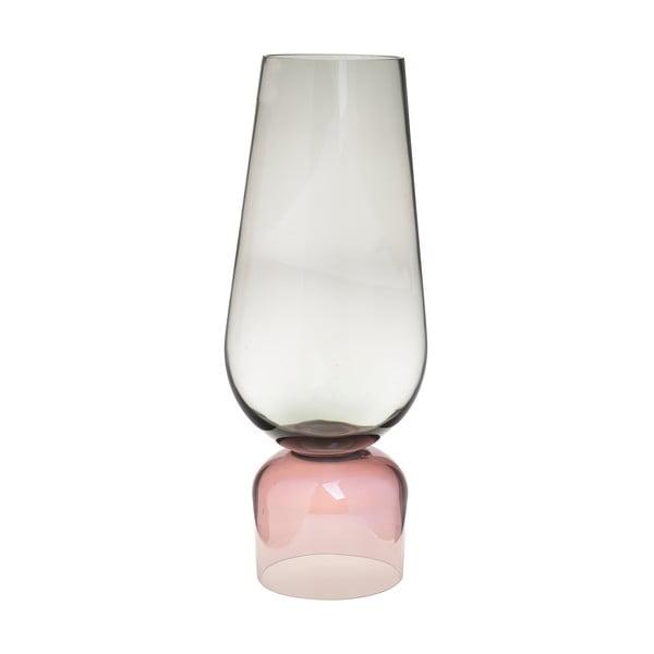 Růžovo-zelená skleněná váza InArt Fragile, výška48cm