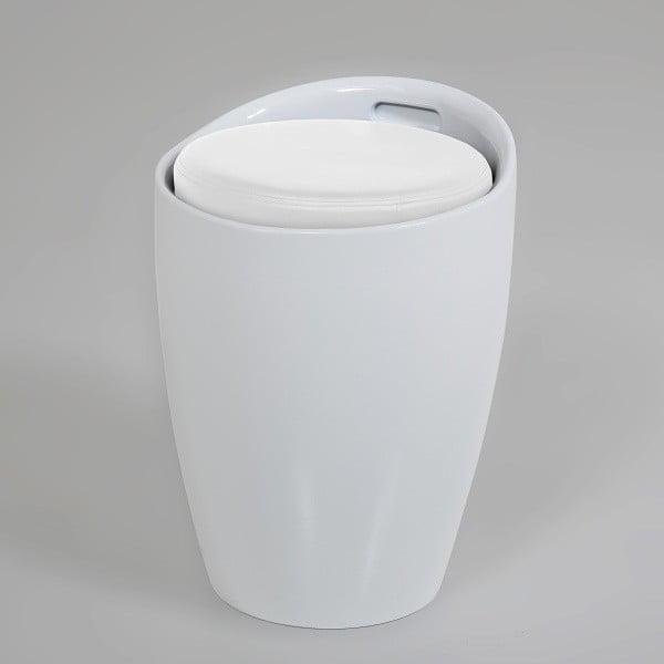 Bílá  stolička s úložným prostorem Actona Minxie