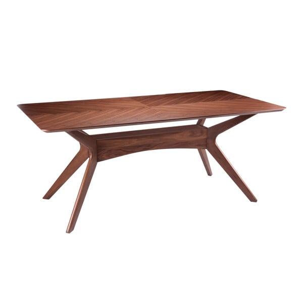 Jídelní stůl v dekoru ořechového dřeva sømcasa Helga, 180x95cm