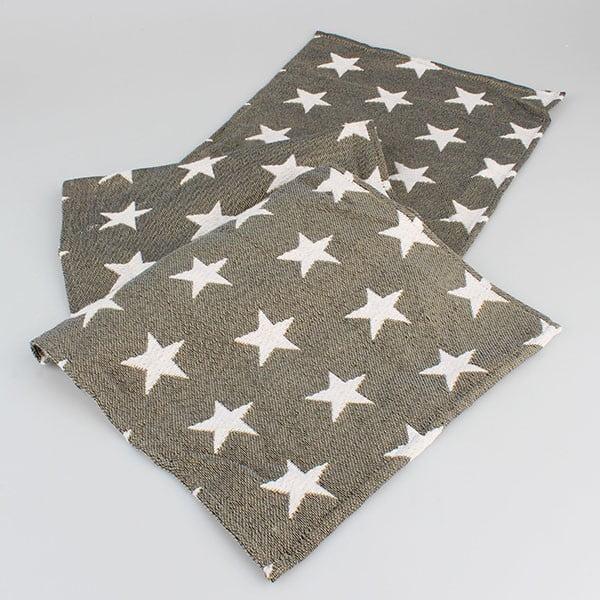 Șervet masă maro cu steluțe Dakls