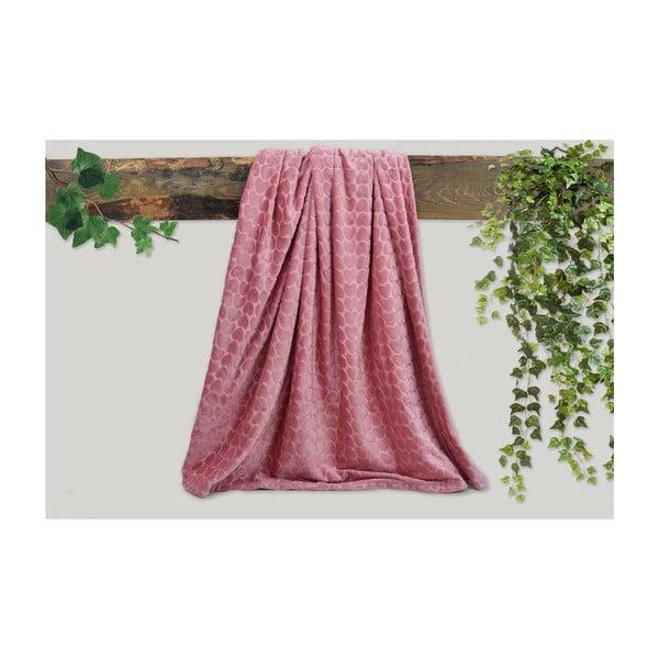 Růžová deka Dolce Bonita Embos, 200 x 135 cm