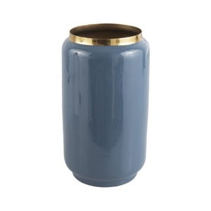 Modrá váza s detailem ve zlaté barvě PT LIVING Flare, výška 25 cm