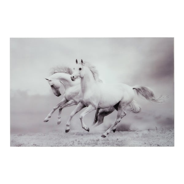 Skleněný obraz Two Horses, 100x150 cm