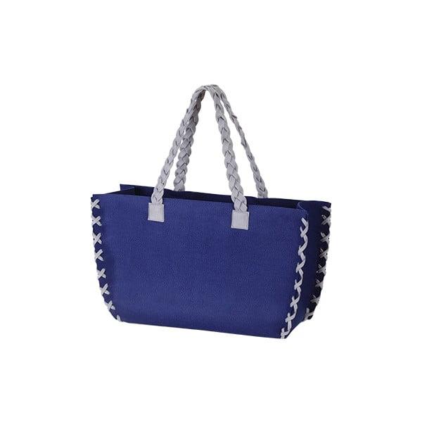 Velká plstěná taška, modrá