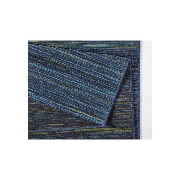 Koberec vhodný i na ven Lotus 120x170 cm, modrý melír
