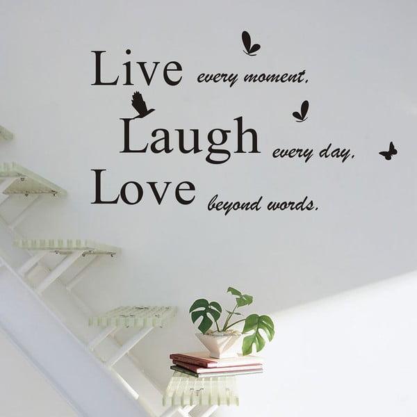 Dekorativní samolepka Live Laugh Love, 50x70 cm