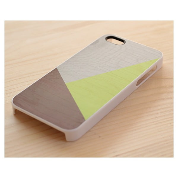 Obal na Samsung Galaxy S4, Neon Geometric Wood/white