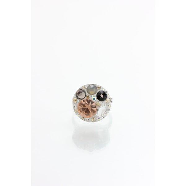 Prsten Laura Bruni se Swarovski Elements Taupe, 18 mm