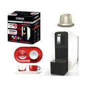 Limitované dárkové balení kávovaru Cremesso White&Red, 96 kapslí a espresso setu