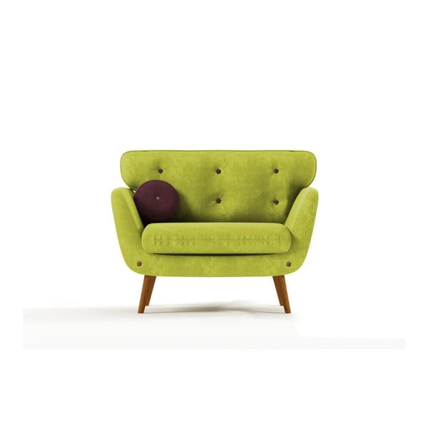 Křeslo Alva, zelená/fialová