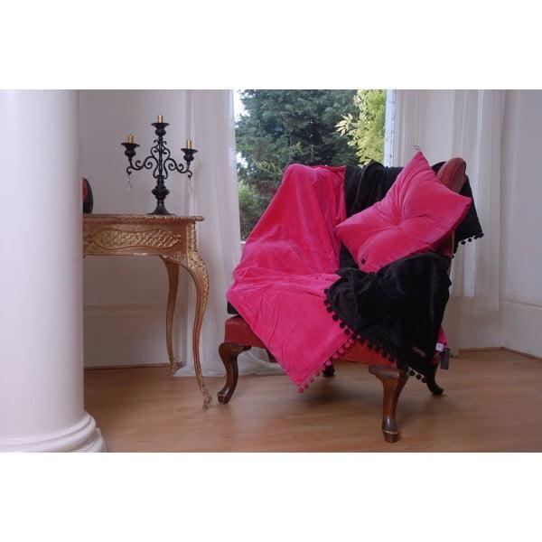 Růžový polštář Ragged Rose Fiona Velvet