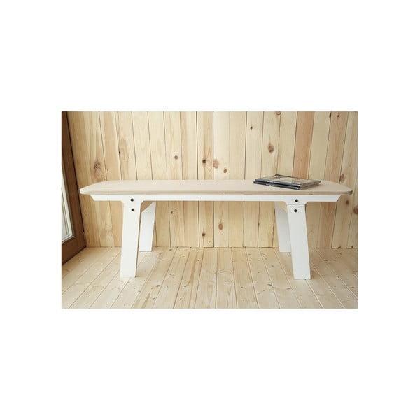 Bílá lavice na sezení rform Slim 01, délka 133 cm