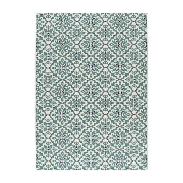 Bílý koberec Universal Finland vhodný i do exteriéru, 170 x 120 cm