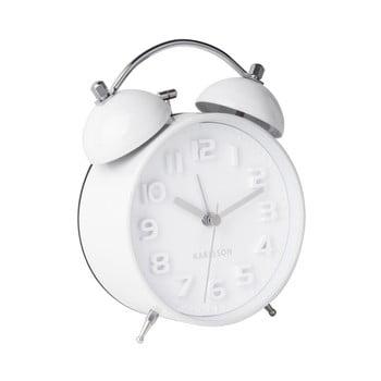 Ceas alarmă Karlsson Wake Up, alb imagine