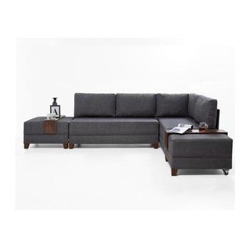 Canapea extensibilă cu 2 blaturi Balcab Home Diana gri
