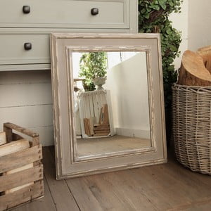 Zrcadlo Shabby Grey Antique, 58x69 cm