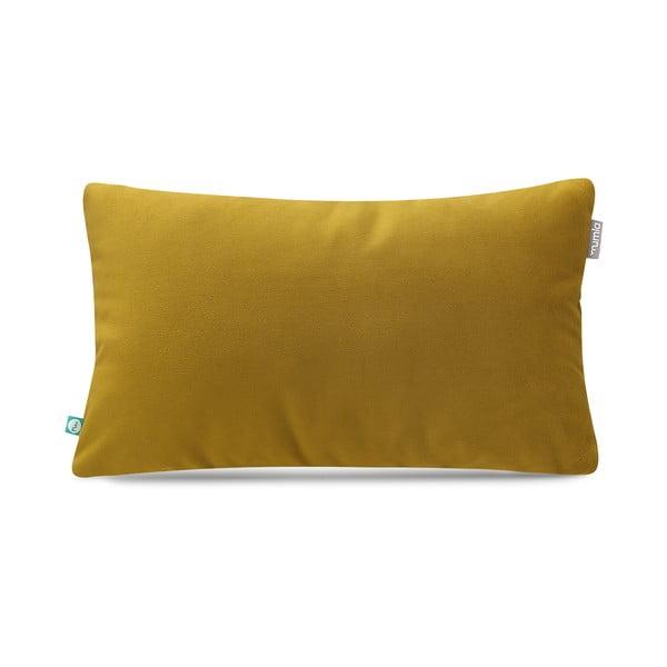Horčicovožltá obliečka na vankúš Mumla Velour, 30 × 50 cm
