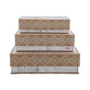 Sada 3 úložných krabic Tri-Coastal Design Large Paris