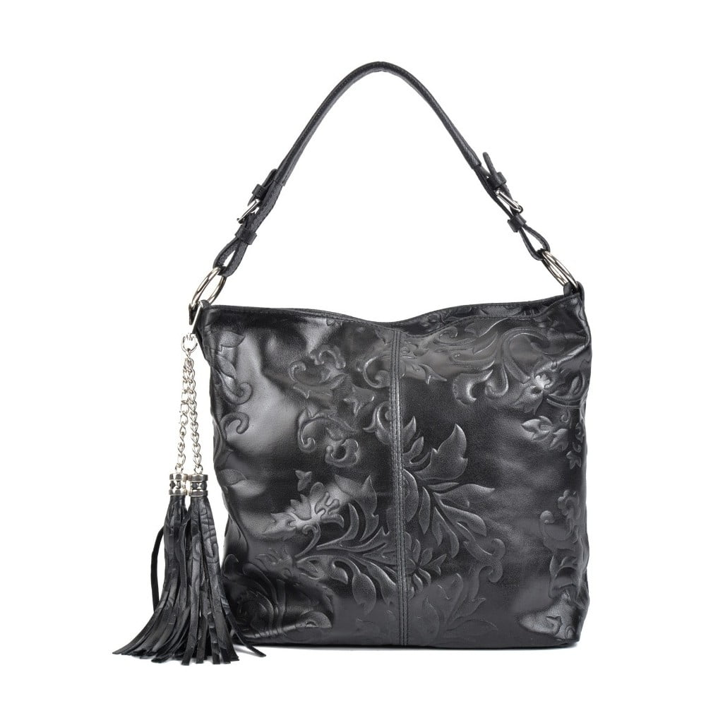 Černá kožená kabelka Isabella Rhea Valla fe02788b50