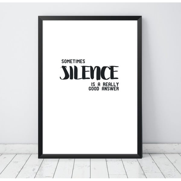 Plakát Nord & Co Silence, 21 x 29 cm