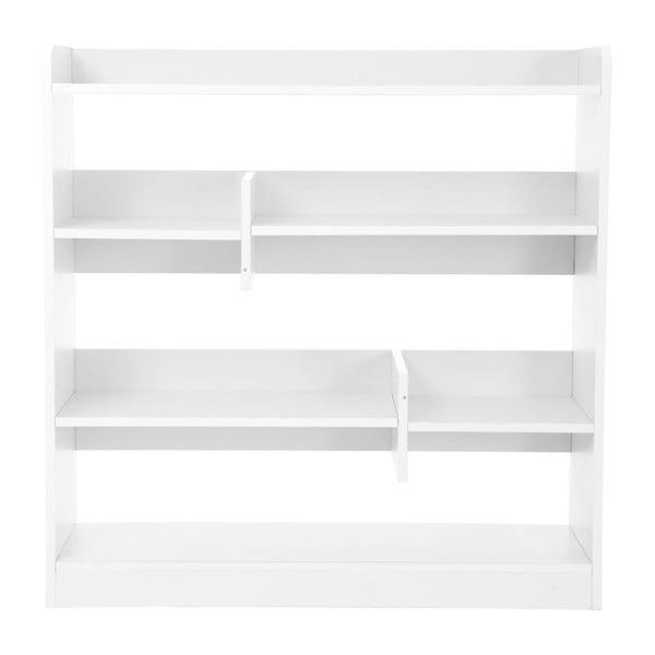 Alannah fehér könyvespolc, magasság 91 cm - Songmics