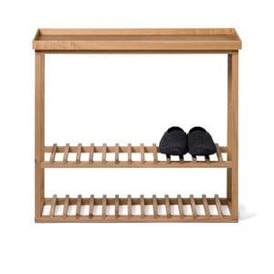Etajeră încălțăminte/masă auxiliară cu blat natural Wireworks Hello Storage