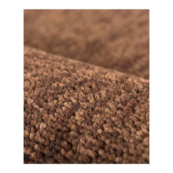 Vlněný koberec Tatoo 110 Marron, 67x200 cm