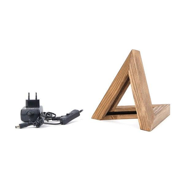 Drevené stolové svietidlo Triangle