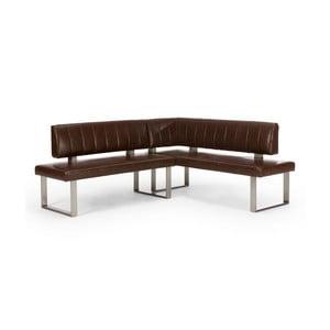 Hnědá rohová lavice SOB Matthew