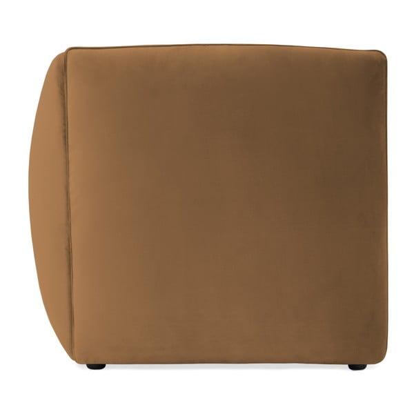 Hnědý pravý rohový modul pohovky Vivonita Velvet Cube