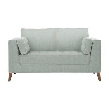 Canapea cu 2 locuri cu detalii crem Stella Cadente Maison Atalaia Mint albastru deschis