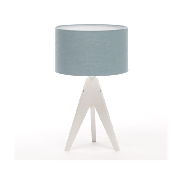 Stolní lampa Artista White/Light Blue Linnen, 28 cm