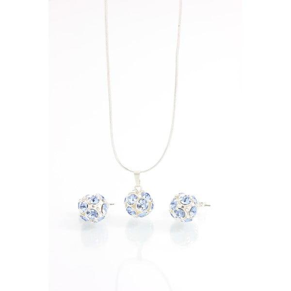 Set colier și cercei cu cristale Swarovski Elements Laura Bruni Round