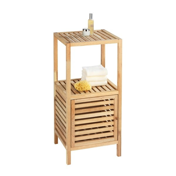 Kúpeľňová polička z orechového dreva s dvierkami Wenko Norway