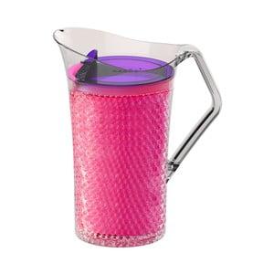 Růžový plastový džbán Asobu Iceberg Pitcher, 1,478 l