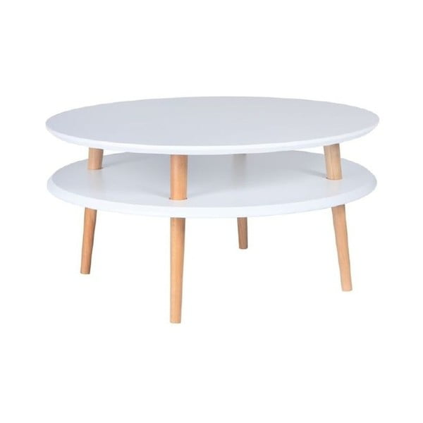 UFO fehér dohányzóasztal, ⌀ 70 cm - Ragaba